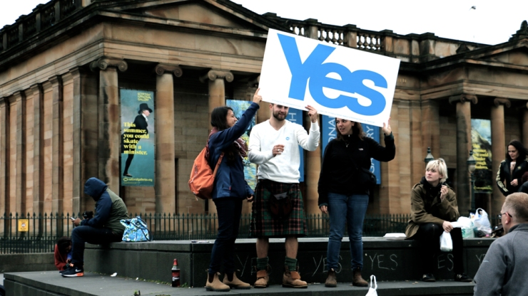 The Day before the Vote in Edinburgh