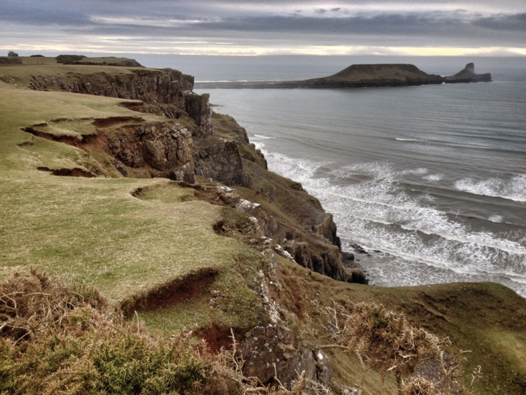 Walking in Wales - Worm's Head in the Gower