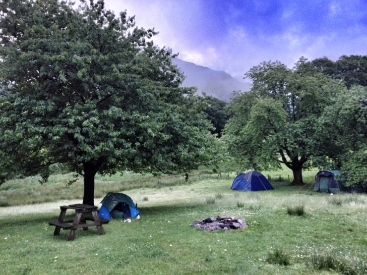 YHA Patterdale campsite.