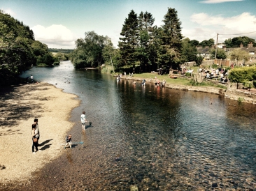 Sunny Pooley Bridge.