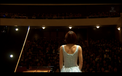 Although she never cared about competition, Nodame decided to enter piano competition this year in order to further study in Europe together with Chiaki. But her performances were not consistent and she started to doubt her decision about further study. One of the competition piece is ‪Schubert - Piano Sonata No. 16 in A minor, D.845‬.
