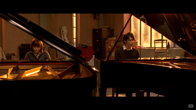 """The couple played their first piece of music together again, at a whole new level. """"It is falling in love."""""""