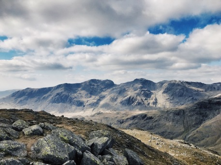 On top of the Second Crinkle, I suddenly realise what I'm looking at - it's Scafell Pike!! The highest mountain in England. I've never seen it properly before and certainly not from this angle. It is SO BEAUTIFUL.